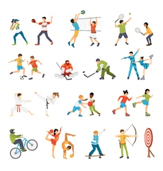 Kids sport icons set vector