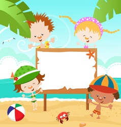 Kids Summer Message vector image