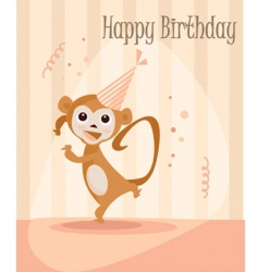 monkey birthday vector image vector image