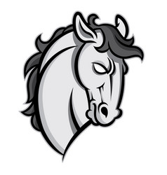 Mustang stallion horse head vector