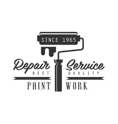 paint work repair and renovation service black vector image