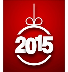 Paper 2015 new year ball vector