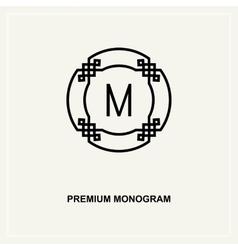 Premium art deco monogram design element vector