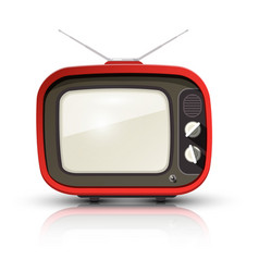 retro tv vintage realistic television isolated on vector image vector image