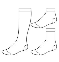 Set of blank socks vector