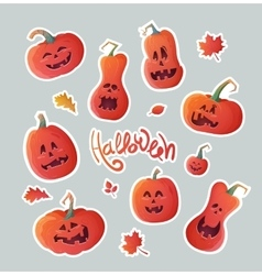 Set of stickers for Halloween vector image vector image
