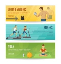 Sportive Lifestyle Horizontal Banners Set vector image