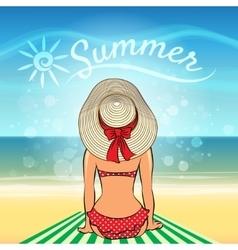 Sunbath vector image vector image