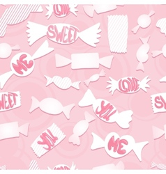 Sweets with love ordsSeamless background vector image
