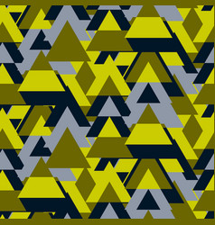Triangle camo bold seamless pattern vector