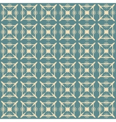 Vintage Beige and Blue Pattern Seamless Pattern vector image vector image