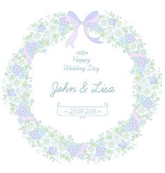 floral ribbon wreath vector image