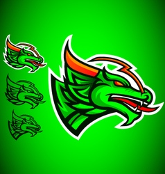green dragon emblem logo vector image