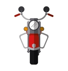 red motorcyle speed transport steel shadow vector image