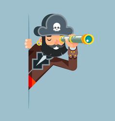 Pirate buccaneer filibuster corsair sea dog vector