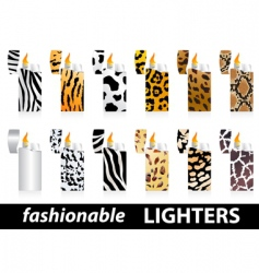 Fashionable lighters vector