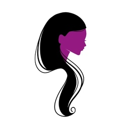 Beautiful womans silhouette vector image