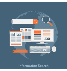 information search vector image