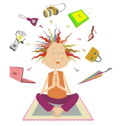 Purchases meditation vector