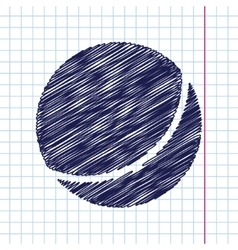Ball icon vector