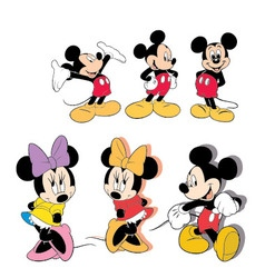 Mickey mouse 1 vector