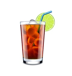 Long island cocktail isolated on white vector
