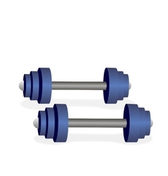 Blue metal dumbbells vector