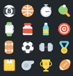 Sport flat icons vector