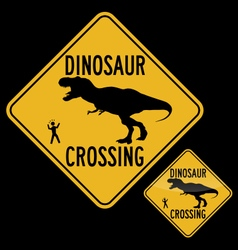 Dinosaur crossing vector