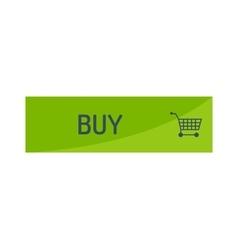 Shopping button icon vector