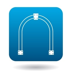 Steel arch icon simple style vector
