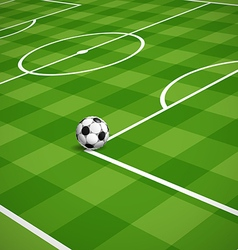 Soccer field with the ball vector image