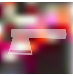 axe icon on blurred background vector image vector image