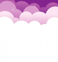 back clouds vector image