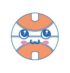 Basketball ball kawaii cartoon vector