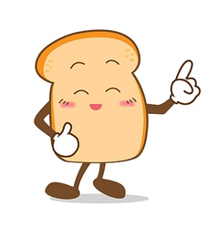 Bread 09 isolated happy smile point finger slice vector
