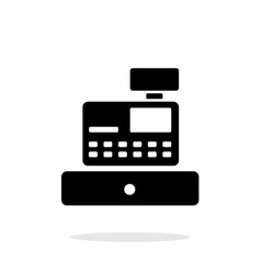 Cash register machine icon on white background vector