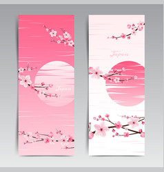 cherry blossom realistic sakura japan vector image vector image