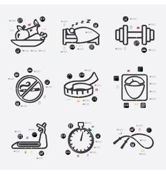 Diet infographic vector