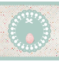 Easter eggs card EPS 8 vector image
