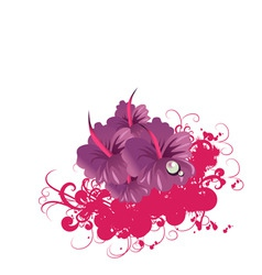 funky flower vector image vector image