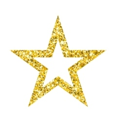 gold star on white vector image