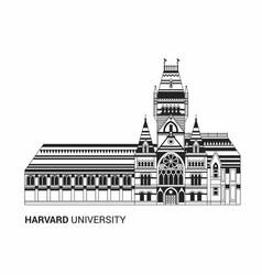 harvard university icon vector image vector image