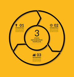 Infographic circle template with 3 steps vector image