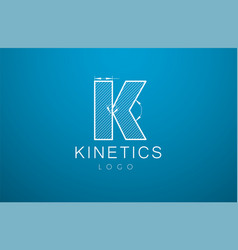 logo template letter k in the style of a vector image vector image