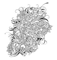 Love sketch background vector image vector image