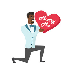Man making a marriage proposal vector