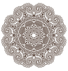 Mandalapattern of henna floral elements vector
