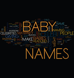 Maternity celeb baby names text background word vector