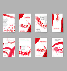 Mega pack brochure design template set vector